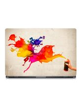 Skin Yard Paint Spray Abstract Laptop Skin With Laptop Sleeve, 14.1 inch