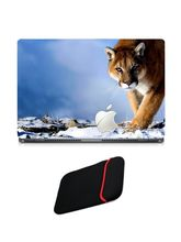 Skin Yard Apple Tiger Laptop Skin with USB LED & OTG Cable, 15.6 inch