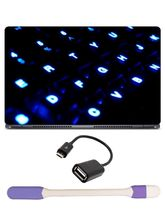 Skin Yard Dark Blue Close Keyboard Laptop Skin with USB LED & OTG Cable, 15.6 inch