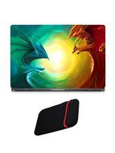 Skin Yard Fantasy Dragon Artwork Laptop Skin with USB LED & OTG Cable, 14.1 inch