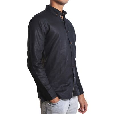 Black Bernard, m, cotton linen, black