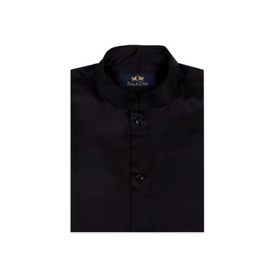Maharaja-Black, xl, satin finish cotton, black