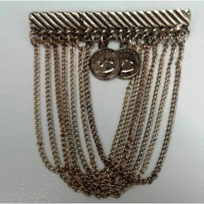 Golden Chain with 2 Coins, as per picture, metalic
