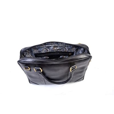 BLACK LEATHER BAG, leather, black