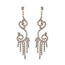 Pink Rose - Complement Collection White Alloy Passion Danglers For Women