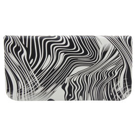 Pink Rose - Cool Collection Black White Charm Clutch