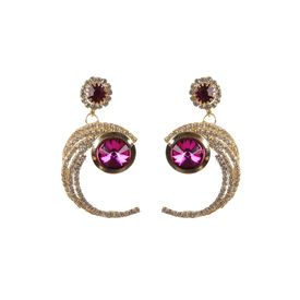 Pink Rose - Complement Collection Pink Alloy Love Danglers For Women