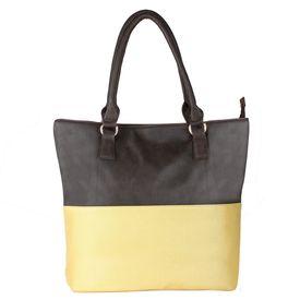 Pink Rose - Elegant Collection Brown Cream Charm Handbag