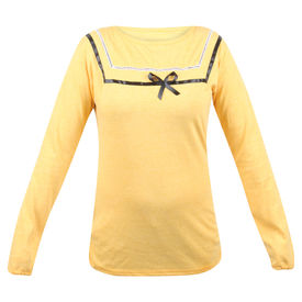 Pink Rose Women Full Sleeves Yellow Top, m, cotton, yellow