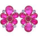 Pink Rose - Complement Collection Pink Alloy Princess Charm Studs For Women