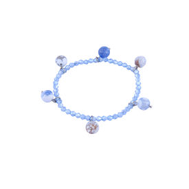 Pink Rose - Complement Collection Blue Grace Beads Charm Bracelet For Women
