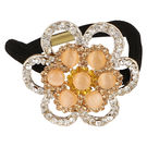 Pink Rose - Princess Collection Brown Alloy Stone Hair Band For Women/Girls, alloy, brown, 5