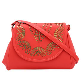 Pink Rose - Statement Collection Peach Gold Charm Sling Bag