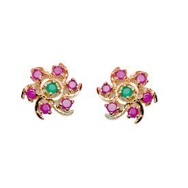 Pink Rose - Magestic stone studs