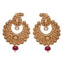 Pink Rose - Alluring golden earrings