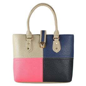 Pink Rose - Elegant Collection Multicolour Charm Handbag