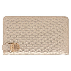 Pink Rose - Statement Collection Gold Charm Clutch