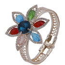 Pink Rose - Complement Collection Multicolour Alloy Floral Bracelet For Women