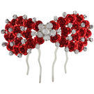 Pink Rose - Complement Collection Red Stone Alloy Princess Rose Hair Pin For Women (Head Gear)