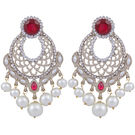Pink Rose - Complement Collection Pink White Alloy Princess Love Drops For Women