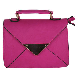 Pink Rose - Complement Collection Pink Elegant Sling Bag For Women/Girls, pink, pu, 26x18x5