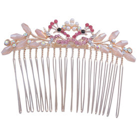 Pink Rose - Complement Collection Multicolour Alloy Mayur Charm Hair Clip For Women