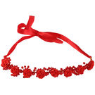 Pink Rose - Complement Collection Red Stone Alloy Rose Charm Hair Tiara For Women (Head Gear)
