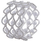 Pink Rose - Complement Collection White Alloy Dazzling Pearl Bracelet For Women
