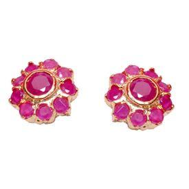 Pink Rose - Floral studs