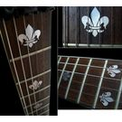 Fleur de Lys (Metallic Type) Fret Markers Decals For Guitar