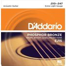 D'Addario EJ15 Acoustic Guitar Str Phosphor Bronze. 010-. 047 Set