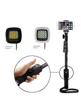 Shopizone Yunteng 1288 Bluetooth Selfie Stick with Selfie Flash Light, black and white