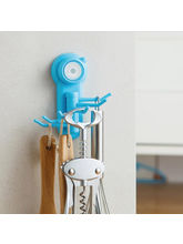 Shopizone Wall Mounted Powerful Suction Cup Hook (HK-BU-0996), blue