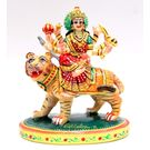 Maa Durga Resin Statue Hand Painted Sculpture - 4 Inch