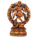 Wooden Natraj - The Dancing Shiva Painted