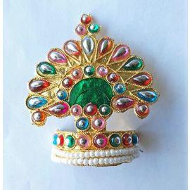 Designer Mukut For Laddu Gopal / Mukut For Thakurji / Mukut For Bal Gopal