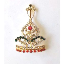 Diamond Stone Work Mukut For Laddu Gopal / Designer Mukut For Thakurji