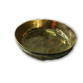 Beautiful Bronz Bhog Small Plate For Pooja / Kansa Plate