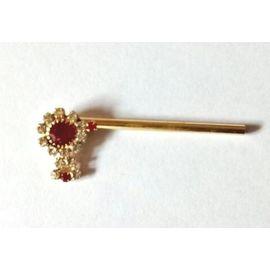 Elegent Diamond Stone Bansuri / Bansuri For Laddu Gopal / Flute For Bal Gopal