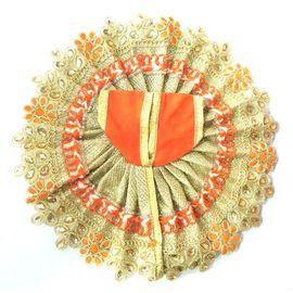 Designer Heavy Golden Lace Work Laddu Gopal Poshak/ Poshak For Thakur Ji / Bal Gopal Shringar ( 4 No)