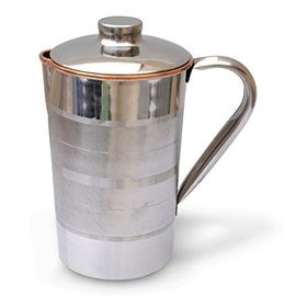 Classic Water Jug / Pooja Jug / Steel Copper Water Jug