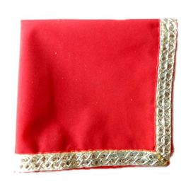 Choki Aasan / Pooja Cloth / Pooja Chowki Aasan / Table Cloth With Lace Border