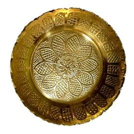 Brass Bhog Plate / Embroidery Plate For God / Decorative Plate