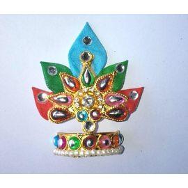 Colourful Leaf Mukut For Thakurji / Mukut For Bal Gopal / Mukut For Laddu Gopal