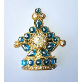 Diamond Work Mukut For Bal Gopal / Mukut For Thakurji / Designer Mukut
