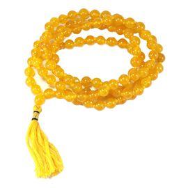 Yellow Hakik Mala Yellow Agate Hakik Stone Mala