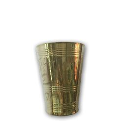 Brass Glass / Designer Embossed Glass / Pooja Glass