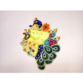 Peacock Style Embroidery Bal Gopal Poshak Heavy Designer Zardosi ( 3 No. ), 3no