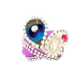 Daimond Work Heavy Pagri For Bal Gopal / Mor Pankh Pagri For Laddu Gopal