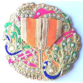 Preety Kundan Work Poshak For Thakurji / Poshak For Laddu Gopal (0No)